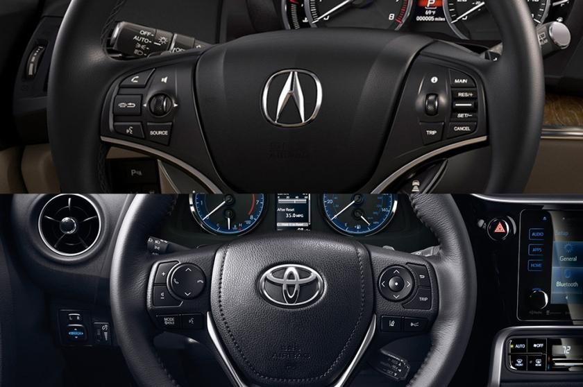 Acura vs Toyota
