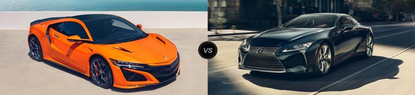 NSX vs LC 500